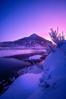 Ethereal sunrise in the Rockies Crested Butte CO