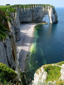 Etretat - a town and commune in France in the region of Upper Normandy