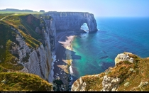Etretat Normandy France  by Moyan Brenn