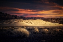 Eureka Dunes in Death Valley CA Tallest dunes in North America m  ft OC arnog IG
