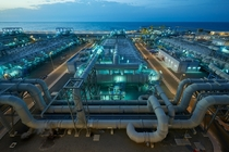 Evaporation units Jebel Ali desalination plant in the United Arab Emirates