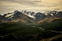 Even dreary weather is good here Denali National Park Alaska
