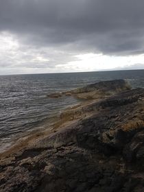 Even when a storm is rolling in the ocean is a beautiful place to be Near Saltcoats Scotland OC