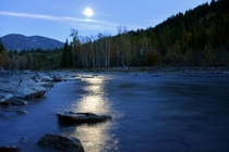 Evening at the Bull River BC