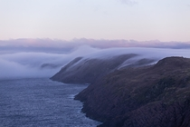 Evening fog at Cape Spear Newfoundland