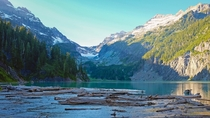 Evening from the shore of Blanca Lake washington state USA   x W