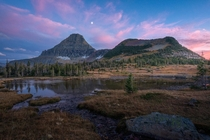 Evening hike through Logan Pass Glacier National Park Montana USA