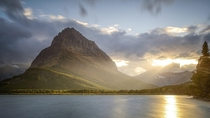 Evening in Glacier National Park Montana USA