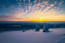 Evening in the Lapland of Finland