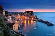 Evening in Vernazza Italy  Photographed by Yannick Lefevre