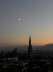 Evening in Zurich Switzerland
