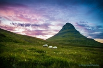 Evening Meal at Kirkjufell Iceland