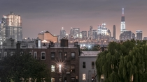 Evening Rooftop Picnic Lower Manhattan as Seen from Greenpoint Brooklyn
