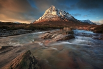 Evening time at Buachaille Etive Mor Scotland by Florent Criquet