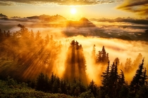 Evergreen Mountain Lookout Sunset in Washington Photo by Michael Matti