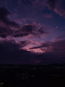 Exactly a year ago I saw Violet Sky over the outskirts of Pune India