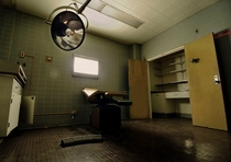 Examination room at a local abandoned hospital in California OC x