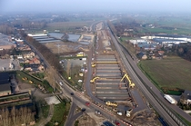 Excavation of a construction pit for a highway in The Netherlands