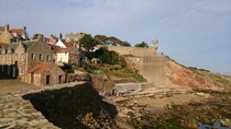 Excuse the ugly concrete wall But this is the other side of Crail Harbour Scotland