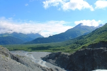 Exit Glacier Valley in Kenai Fjords National Park Seward Alaska