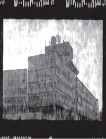 Experimental film scan of this huge abandoned building near mine it dominates the whole skyline and is very eerie in winter