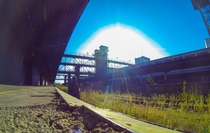 Exploration of an abandoned freight train station