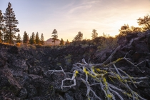 Exploring a collapsed lava tube at Lava Beds National Monument