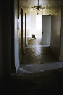 Exploring the hallways of an abandoned asylum