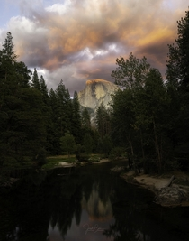 Explosion of Light at Half Dome