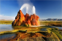 Extraordinary geysers in the Nevadan desert  photo by Christian Klepp