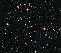 eXtreme Deep Field or XDF is a composite of thousands of photos taken by Hubble to display nearly a quarter of a million galaxies