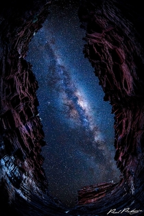 Eye to the Galaxy by Paul Pichugin  Captured in one of the many gorges in Karijini National Park Western Australia