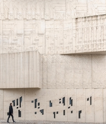 Facade of museum of architecture drawing in Berlin Germany x