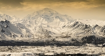 Faint clouds over Mount Denali Alaska  Photographed by Jay Berkow