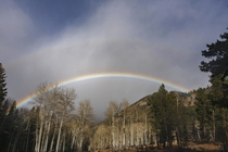 Faint double rainbow End o Valley Rocky Mtn Natl Park
