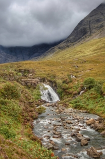 Fairy Pools Isle of Skye Scotland in Fall  OC