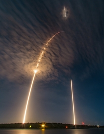 Falcon  Launch and Landing by Michael Seeley