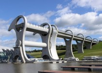 Falkirk Wheel Scotland an elevator for boats X-post from rcuriousplaces
