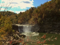Fall color at Cumberland Falls Kentucky
