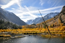Fall color in Californias Eastern Sierra mountains