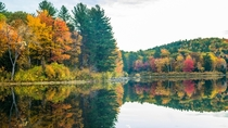 fall colors and reflection New Hampshire US  x