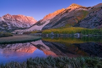 Fall Colors and Sunrise along North Lake in Bishop California