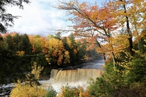 Fall Colors at Tahquamenon Falls Michigan