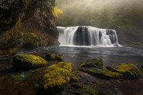 Fall falls on these falling falls Gifford Spinach National Forest WA