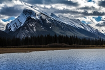 Fall in Mount Rundle Banff Alberta