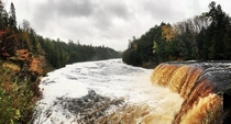 Fall  in Tahquamenon Falls State Park Michigan USA