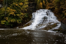 Fall in the finger lakes Buttermilk falls IthacaNY