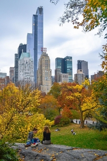 Fall picnic in Central Park New York