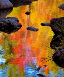 Fall Reflections on the Presumpscot River Windham Maine USA