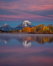 Fall Sunrise at Oxbow Bend Grand Teton National Park Wyoming